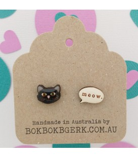 Theodore and Friends - Stella the Cat Earrings
