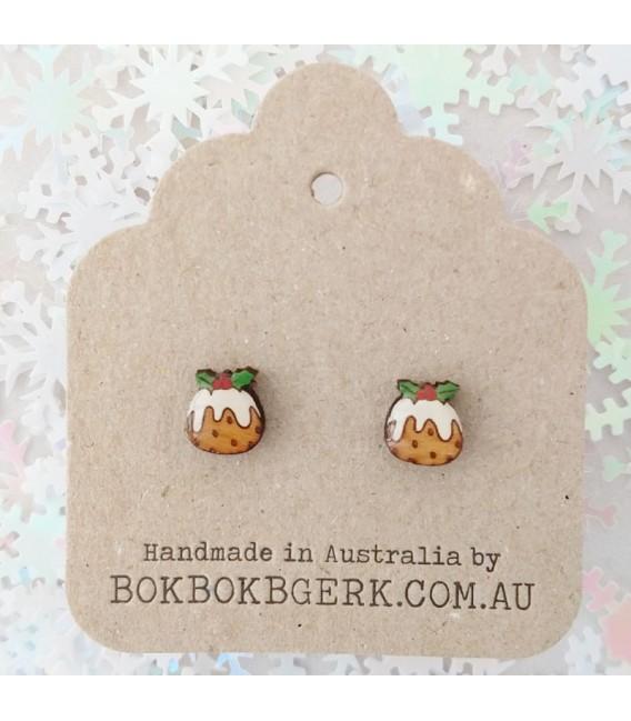 Christmas Pudding Earrings