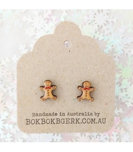 Christmas Gingerbread Man Earrings