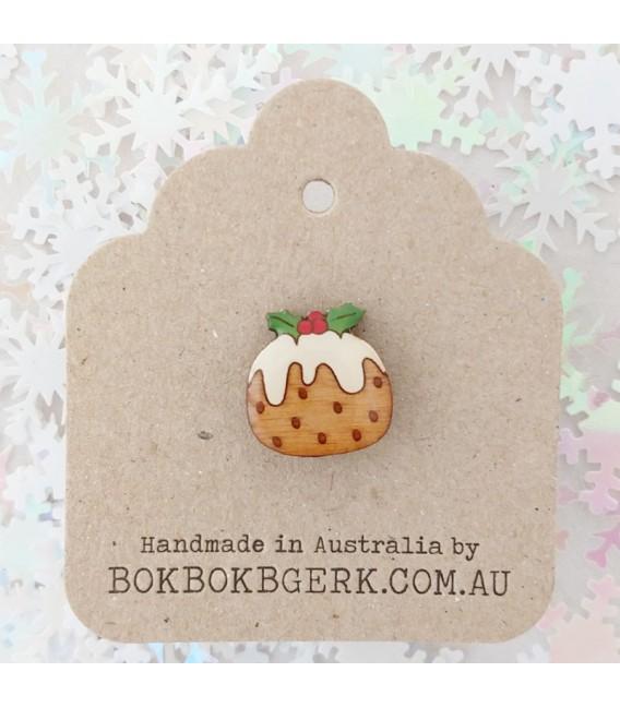 Christmas Pudding Lapel Pin
