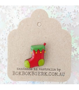 Christmas Stocking Lapel Pin