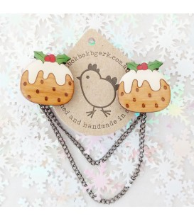 Christmas Pudding Cardigan Clips