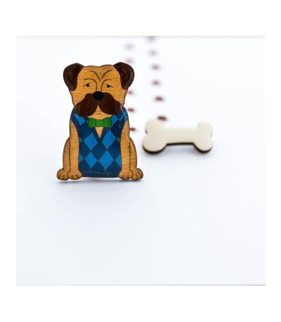 Edward the Dog Brooch