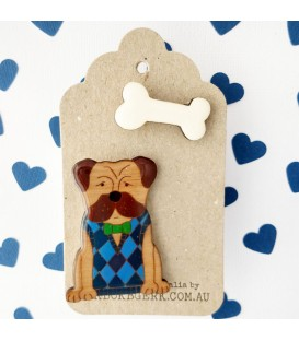 Edward the Dog Brooch