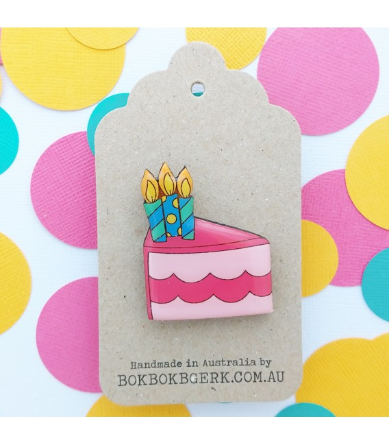 Birthday Cake Brooch