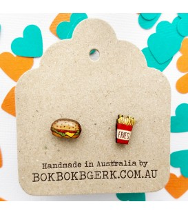Hamburger and Fries Earrings