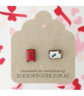 Mailbox and Letter Earrings