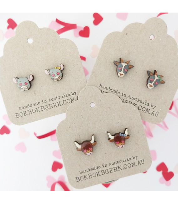 Loved Up Chinchilla Earrings