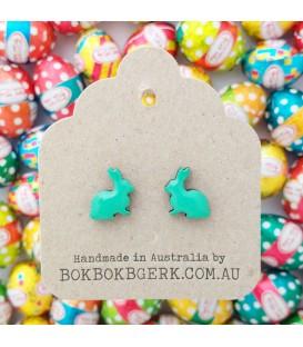 Rabbit Earrings - Green