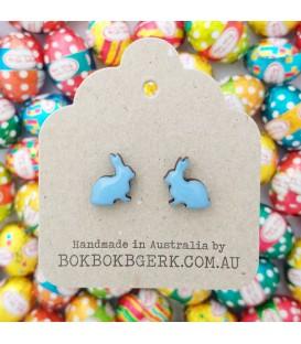 Rabbit Earrings - Bluey Purple