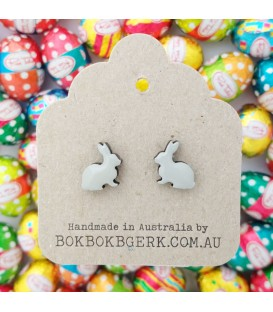 Rabbit Earrings - Grey