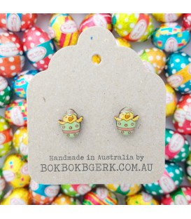 Easter Chicken Earrings