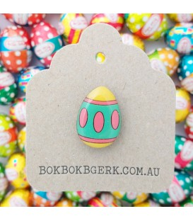 Easter Egg Lapel Pin - Brights