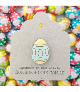 Easter Egg Lapel Pin - Pastels