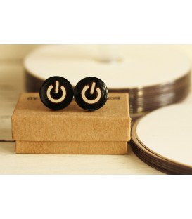 Power On Cufflinks (Black & White)