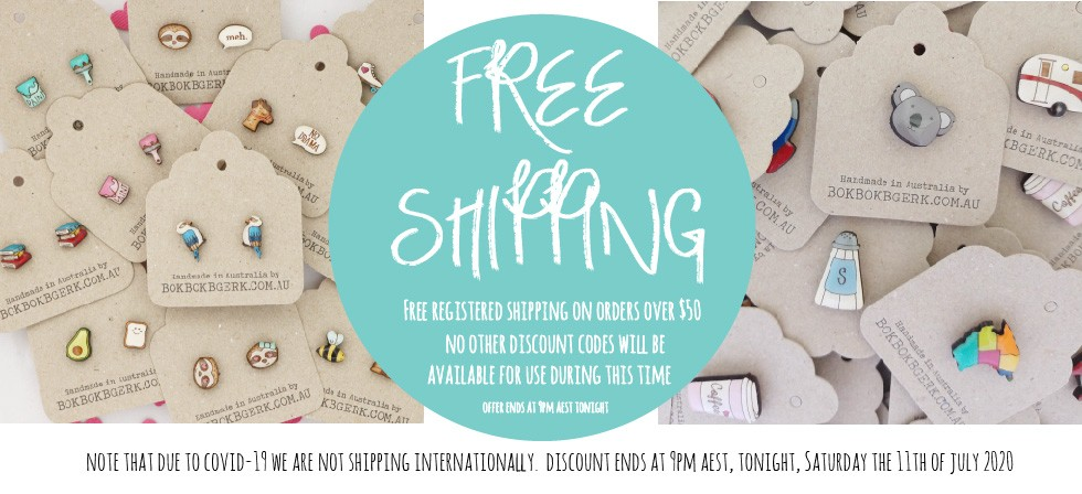 Free Registered Shipping on orders over $50