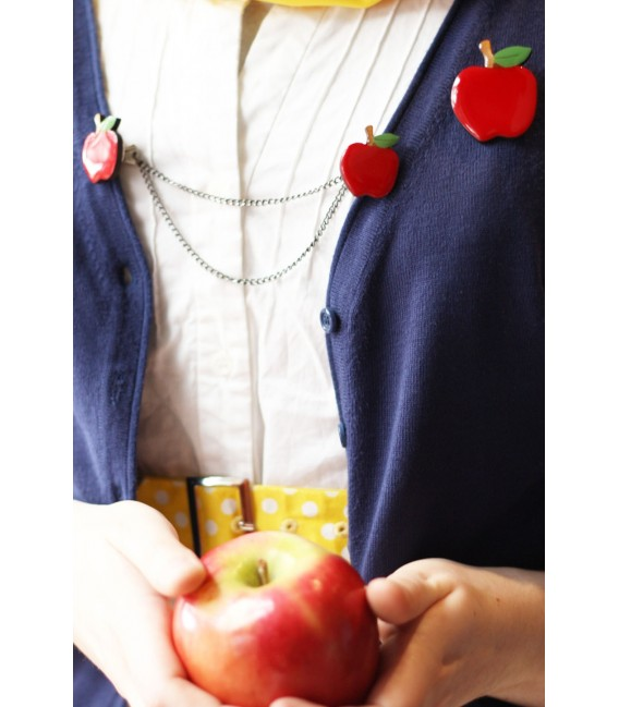 Woodland Garden - Red Apple Brooch