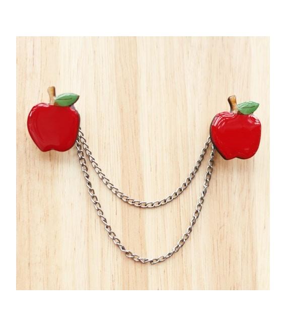 Woodland Garden Apple Cardigan Clips
