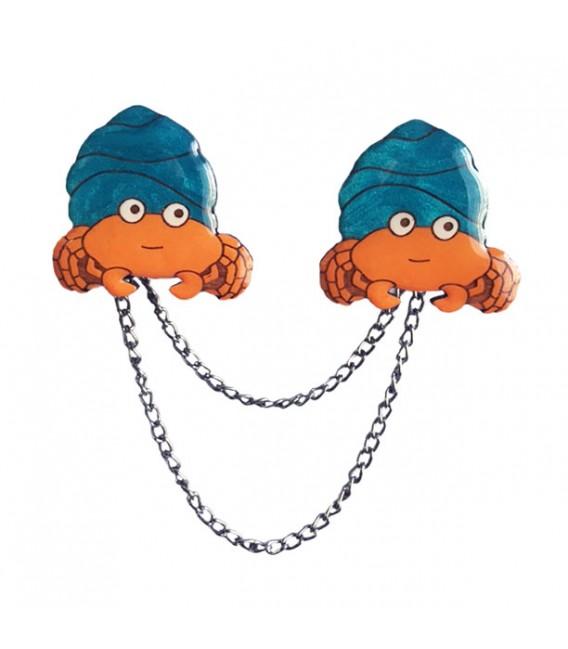 Under the Sea - Hermit Crab Cardigan Clips