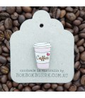 Coffee Cup Lapel Pin - Pink