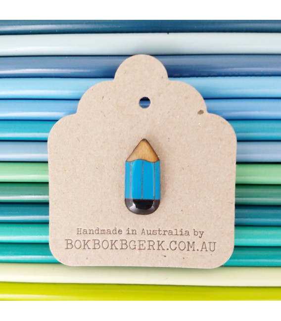 Pencil Lapel Pin (Blue)