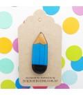 Pencil Brooch (Blue)