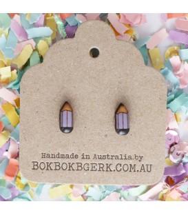 Pencil Earrings (Purple)