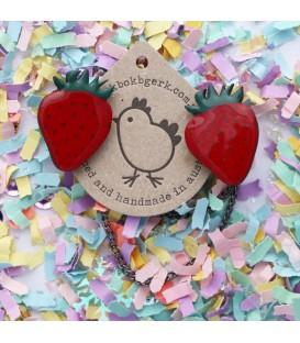 Strawberry Cardigan Clips