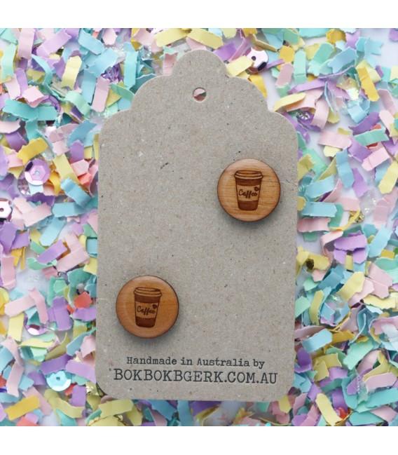 Wooden Coffee Cufflinks