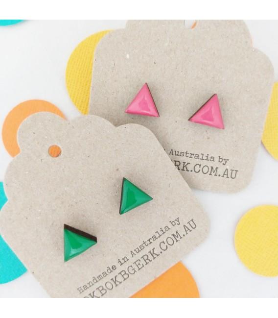 Triangle Earrings (Pink)