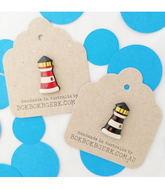 Lighthouse Lapel Pin - Red