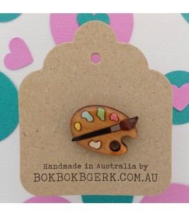 Crafternoon - Artist Palette Lapel Pin