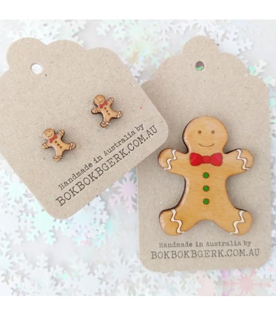 Christmas Gingerbread Man Earrings
