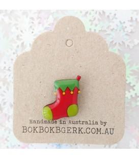 Christmas Stocking Lapel Pin
