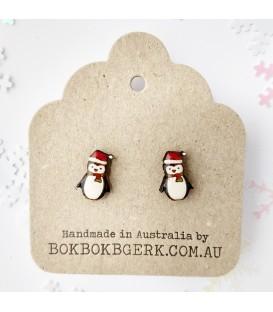 Christmas Penguin Earrings
