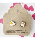 Egg on Toast Earrings