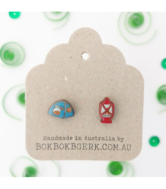 Tent and Lantern Earrings