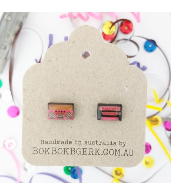 Boom Box/Cassette Tape Earrings