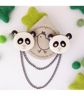 Panda Cardigan Clips