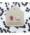 Coffee Pot Earrings (Pink)