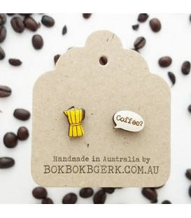 Coffee Pot Earrings (Yellow)