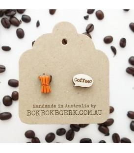 Coffee Pot Earrings (Orange)