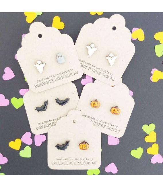 Halloween Bat Silhouette Earrings