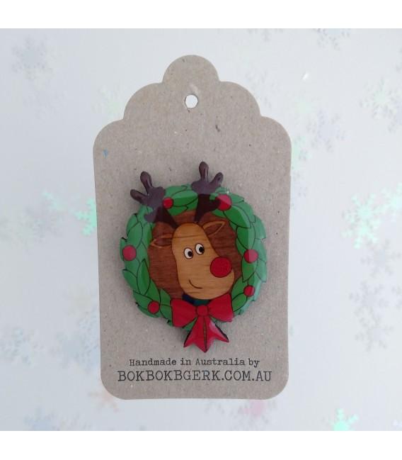 Christmas Reindeer Brooch