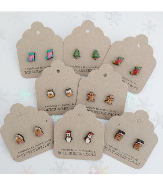 Christmas Gingerbread House Earrings